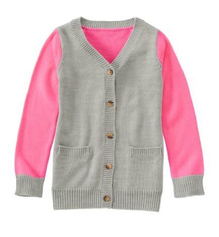 GYMBOREE外套 灰色背心圖案粉紅色設計款開襟外套