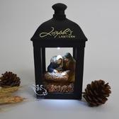小夜燈基督耶穌教禮品主內基督徒禮品圣誕節禮物耶穌降生馬槽擺件 igo