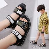 童鞋男童涼鞋新款夏季中大童女童涼鞋韓版防滑兒童沙灘鞋花間公主