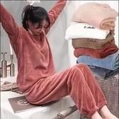 仙女暖暖褲套裝珊瑚絨家居睡衣寬鬆休閒大碼外穿搭配上衣懶懶神褲 時尚芭莎