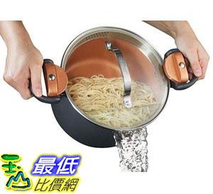 [8美國直購] 面鍋 陶瓷不沾鍋 Gotham Steel Pasta Pot with Patented Built in Strainer with Twist 4 Quart B072BJJWXC