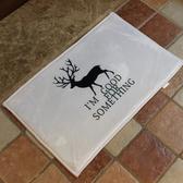 鹿兒剪影圖案地墊(短) 門墊 腳墊 地毯 玄關 浴室 廚房 臥室 客廳 防滑 時尚【V25】MY COLOR