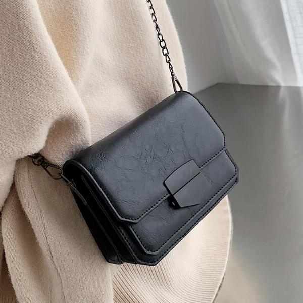 包包2021新款潮包質感斜挎包女百搭ins網紅時尚單肩包鏈條小方包 【端午節特惠】