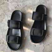 618好康鉅惠男士夏季一字拖鞋男潮夏天韓版軟底沙灘涼拖