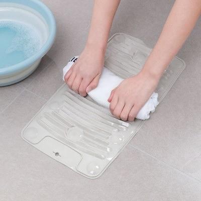 【超取399免運】矽膠搓衣板 家用小洗衣板 多功能折疊迷你軟橡膠