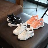 2018夏新款女童透氣兒童鞋軟底男童沙灘鞋 男寶寶包頭涼鞋1-3-6歲   初見居家