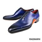 【MAGNANNI】極致簡約牛津皮鞋 藍...