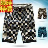 男運動短褲-夏季新款格紋時尚男五分褲子3色69r25[時尚巴黎]