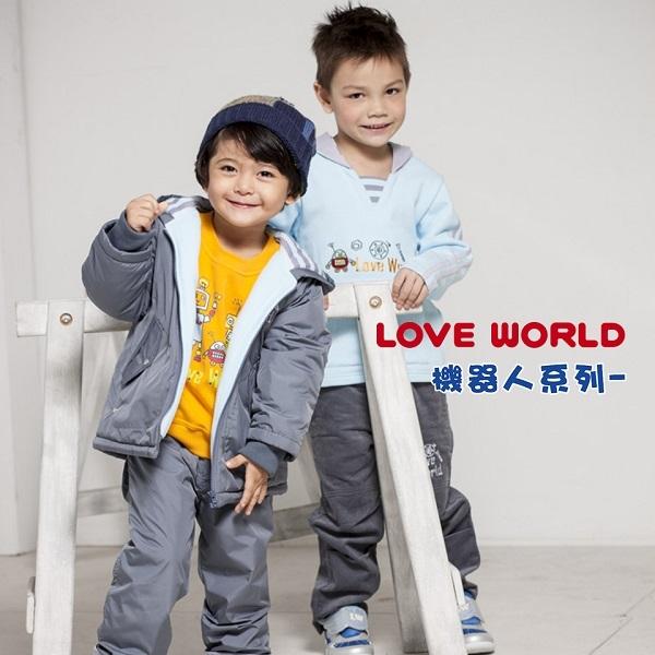 【愛的世界】鋪棉兩面穿長褲/4~8歲-台灣製-  ---秋冬下著