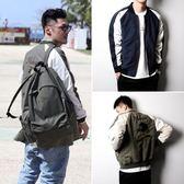 飛行外套秋季外套男雙面穿修身夾克橫須賀刺繡潮流棒球外套潮牌