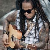 吉他背帶AMUMU阿木木個性刺繡民謠古典吉他背帶木吉他背帶電吉他貝斯 全館免運