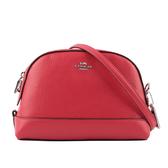 【COACH】經典LOGO皮革斜背包(紅色) F76673 SVP4Z