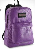 JANSPORT 經典校園背包 基本款-紫蛇紋-43117 促銷價