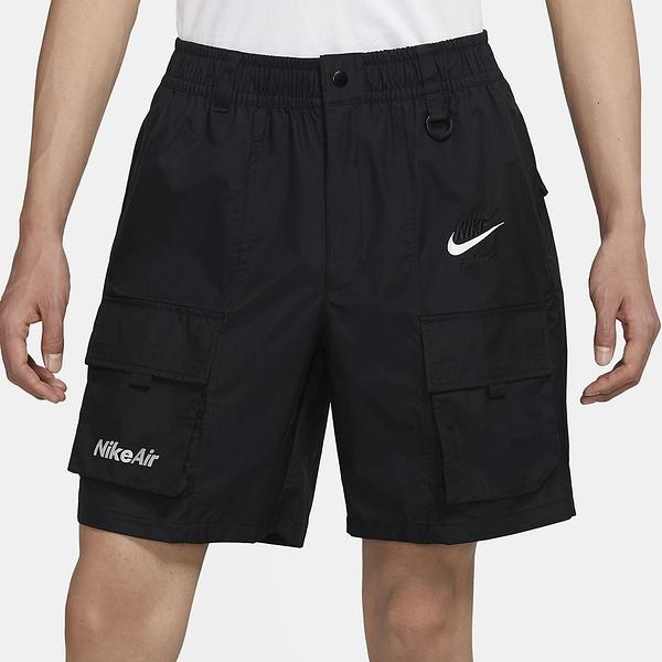 NIKE 短褲 NSW SHORT REPEL 黑 白勾 口袋 基本 五分工裝褲 男(布魯克林) CU4127-010