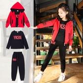 女童套裝 年秋裝新款韓版三件套裝秋季兒童網紅運動中大女童裝時髦洋氣