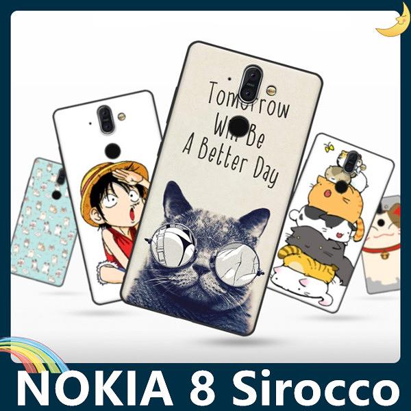 NOKIA 8 Sirocco 彩繪Q萌保護套 軟殼 卡通塗鴉 超薄防指紋 全包款 矽膠套 手機套 手機殼 諾基亞