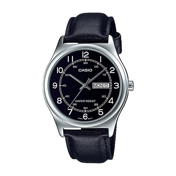 CASIO 卡西歐 手錶專賣店 MTP-V006L-1B2 男錶 指針錶 皮革錶帶 防水 日和日期顯示
