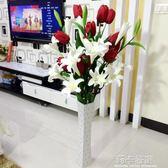 香水百合仿真花束客廳落地裝飾花假花絹花Pu干花百合單支花郁金香igo   莉卡嚴選