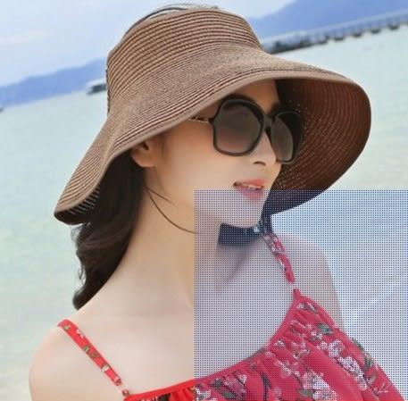 [協貿國際]  女士夏防曬太陽帽大簷折疊遮陽帽 (1入)