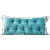蕾絲花邊護腰靠墊靠枕床頭大靠背軟包居家床靠墊 萬客居