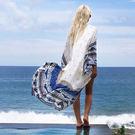 罩衫 印花 民族風 長版 長袖 防曬 開襟 沙灘 比基尼 罩衫【ZS220】 ENTER  04/26