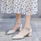 涼鞋女仙女風新款溫柔包頭中跟