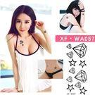 紋身貼紙  鑽石星星  WA057 日韓系水轉印紋身貼紙  想購了超級小物