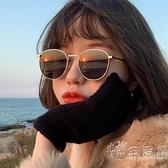 2021年新款墨鏡女ins街拍網紅圓框眼鏡韓版潮復古太陽鏡小臉防曬 小時光生活館