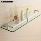 kelaien太空鋁浴室玻璃置物架單層衛生間壁掛洗手間衛浴五金掛件 YDL