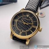 MASERATI瑪莎拉蒂女錶34mm黑色錶面深黑色錶帶