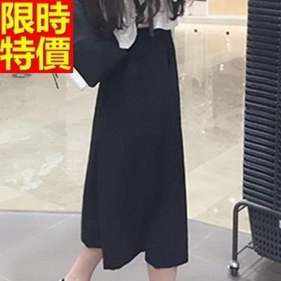 寬褲-經典格紋歐美風格七分女闊腿長褲2色69c17【巴黎精品】