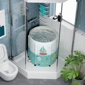 游泳池嬰兒游泳桶家用小孩游泳池新生兒童免充氣寶寶室內折疊洗澡浴缸LX618購