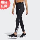【現貨】Adidas TECHFIT 3-STRIPES 女裝 長褲 緊身 全長 高腰 訓練 健身 黑【運動世界】GR8248
