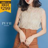 (現貨)PUFII-套裝 鏤空蕾絲無袖上衣+細肩背心兩件式套裝 3色-0426 現+預 春【ZP14492】