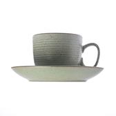 日式樸石陶瓷咖啡杯盤組 綠淨
