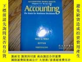 二手書博民逛書店Accounting罕見Work Sheets Chapters 1-15 For Use With Accoun