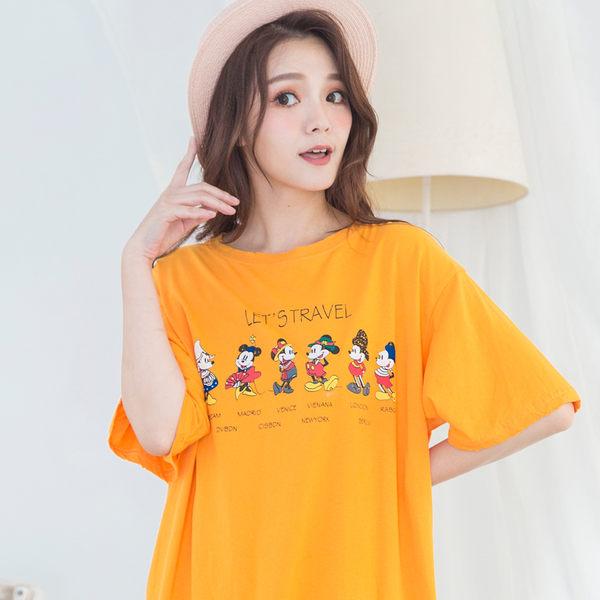 韓版寬鬆卡通印花圓領T-shirt(4色)