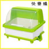 碗筷收納盒帶蓋廚房餐具瀝水置物架特大號放盤子碗碟箱塑料碗柜