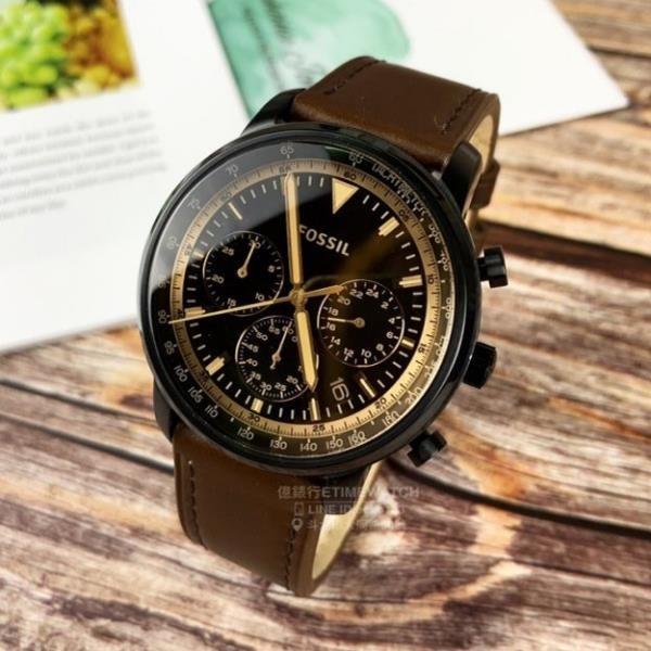 【南紡購物中心】FOSSIL美國品牌Goodwin系列復古紳士腕錶FS5529原廠公司貨