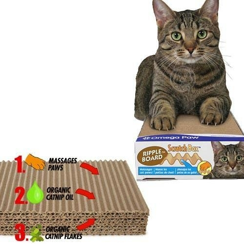 【培菓平價寵物網】美國Omega Paw˙貓草精油波浪貓爪板【小】
