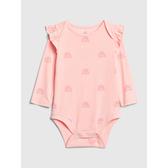 Gap女嬰甜美風格印花連體衣525785-螢光粉