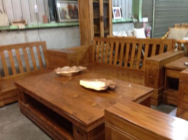 8號店鋪  森寶藝品傢俱企業社  休閒椅組  柚木客廳椅組~~全實木~~實體店面~~~