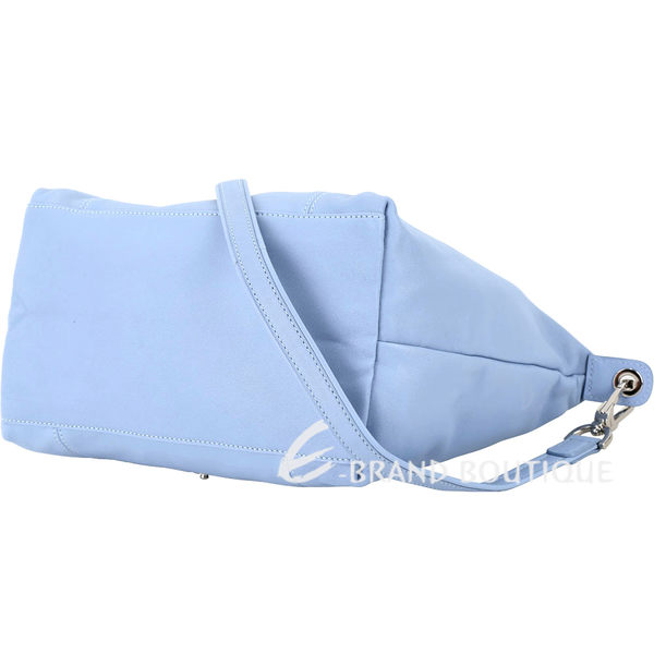 LOLONGCHAMP Le pliage Cuir 短把皮革摺疊兩用包(小/薰衣紫) 1340242-78