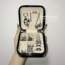 ins飾品收納盒簡約旅行便攜小號網紅同款珠寶項鏈戒指首飾收納盒 現貨快出