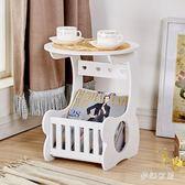 小圓桌歐式茶几桌迷你簡易客廳沙發几咖啡桌床頭臥室桌子 yu4167『夢幻家居』