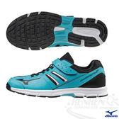 MIZUNO美津濃 RUSH UP Jr. 支撐型童鞋(藍*黑)