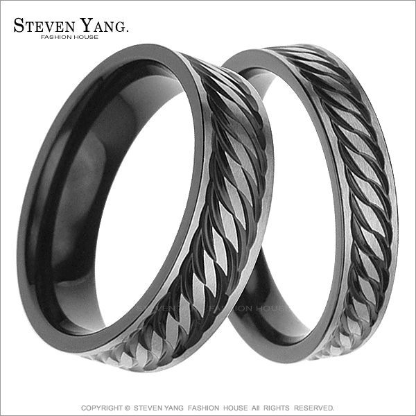 情人對戒 西德鋼戒指「黑色浪潮」單個價格