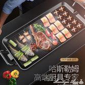 電燒烤爐韓式家用不粘電烤爐無煙烤肉機盤電烤盤鐵板燒烤肉鍋室內 igo全館免運