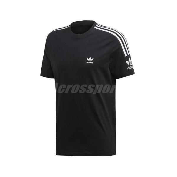 adidas 短袖T恤 Tech Tee 黑 白 男款 三葉草 寬鬆剪裁 【ACS】 ED6116