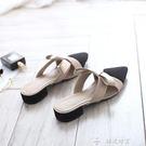 半拖鞋2019春季韓版新款拖鞋女外穿時尚網紅同款包頭半拖鞋懶人涼拖女 全網最低價
